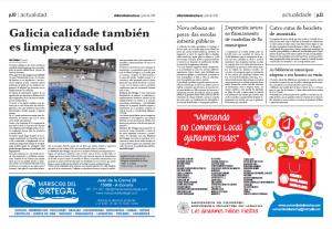 Publicación de este mes en el Diario de Laracha